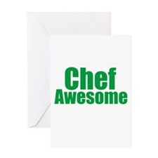 Chef Awesome Greeting Card