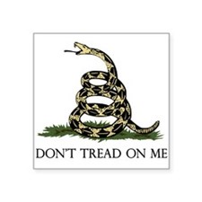 Don't Tread On Me Square Sticker