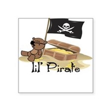 Lil Pirate Baby/Toddler Square Sticker