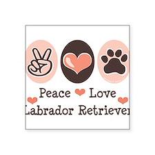 Peace Love Labrador Retriever Square Sticker