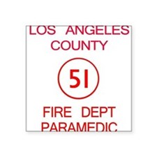 Emergency Squad 51 Square Sticker