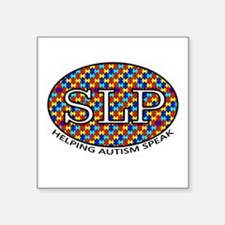SLP Autism Square Sticker