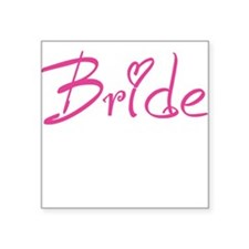 Bride Square Sticker