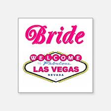 Bubble Gum Pink Las Vegas Bride Square Sticker