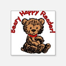 Beary Happy Square Sticker