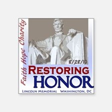 Restoring Honor Rally 8-28 Square Sticker