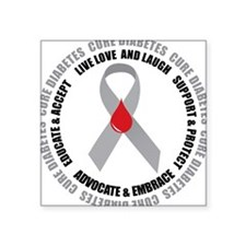 Diabetes Awareness Square Sticker