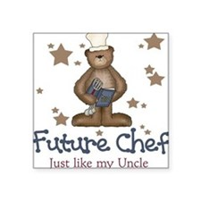 Future Chef Like Uncle Baby Square Sticker