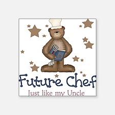 Future Chef Like Uncle Baby Square Sticker