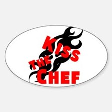 Kiss The Chef Sticker (Oval)