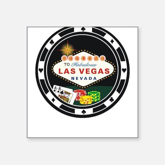 Las Vegas Poker Chip Design Square Sticker