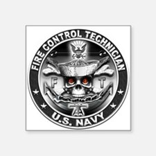 USN Fire Control Technician F Square Sticker