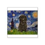 Starry Night / Affenpinscher Square Sticker 3