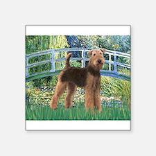 """Bridge - Airedale #6 Square Sticker 3"""" x 3"""""""