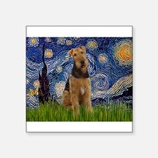 "Starry - Airedale #1 Square Sticker 3"" x 3"""