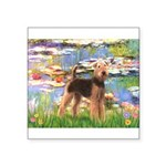Lilies#2 - Airedale #6 Square Sticker 3
