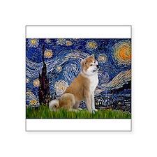 "Starry - Akita3 Square Sticker 3"" x 3"""