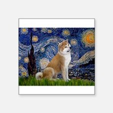 "Starry - Akita3 Square Sticker 3"" x 3"""