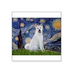 Starry Night - Akita 2 Square Sticker 3