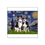 5.5x7.5-Starry-Aussie-Tri-PR.PNG Square Sticker 3