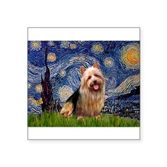 Starry-AussieTerrier Square Sticker 3