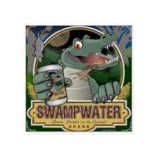 Swampwater Gator Square Sticker