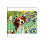 Irises & Beagle Square Sticker 3
