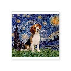 Starry Night / Beagle Square Sticker 3