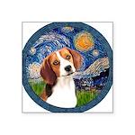 Starry Night Beagle #1 Square Sticker 3