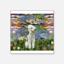 "Lilies / Bedlington T Square Sticker 3"" x 3"""