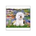 Llies & Bichon Square Sticker 3