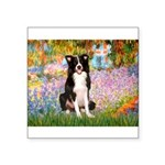 Garden & Border Collie Square Sticker 3