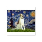 5.5x7.5-Starry-Borzoi1b.png Square Sticker 3