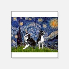 """Starry Night & Bos Ter Square Sticker 3"""" x 3"""""""