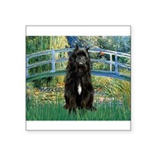 "Bridge / Bouvier Square Sticker 3"" x 3"""