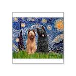 Starry - 2 Briards Square Sticker 3