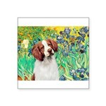 Irises/Brittany Square Sticker 3