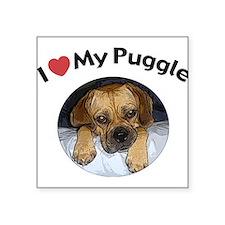 Puggle Square Sticker