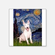 "Starry/Bull Terrier (#4) Square Sticker 3"" x 3"""