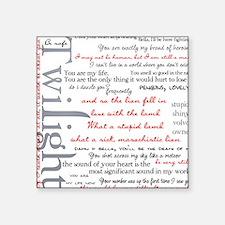 Twilight Quotes Square Sticker