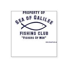 Sea of Galilee Fishing Club Square Sticker