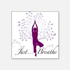 JustBreathe Square Sticker