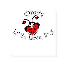 Oma's Love Bug Ladybug Square Sticker