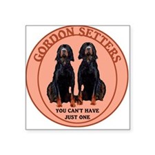 two gordon setters Square Sticker