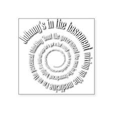White Subterranean Dylan Square Sticker