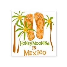 Honeymoon Mexico Square Sticker