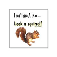 ADD Squirrel Square Sticker