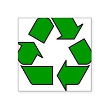Recycling Symbol Square Sticker