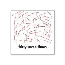 "Llamas ""Thirty-seven..."" Square Sticker"