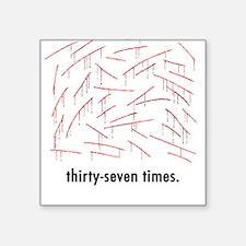 "Llamas ""Thirty-seven..."" Square Sticker"